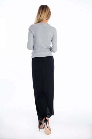 Patrizia Segreti ribbed jumper top with frills