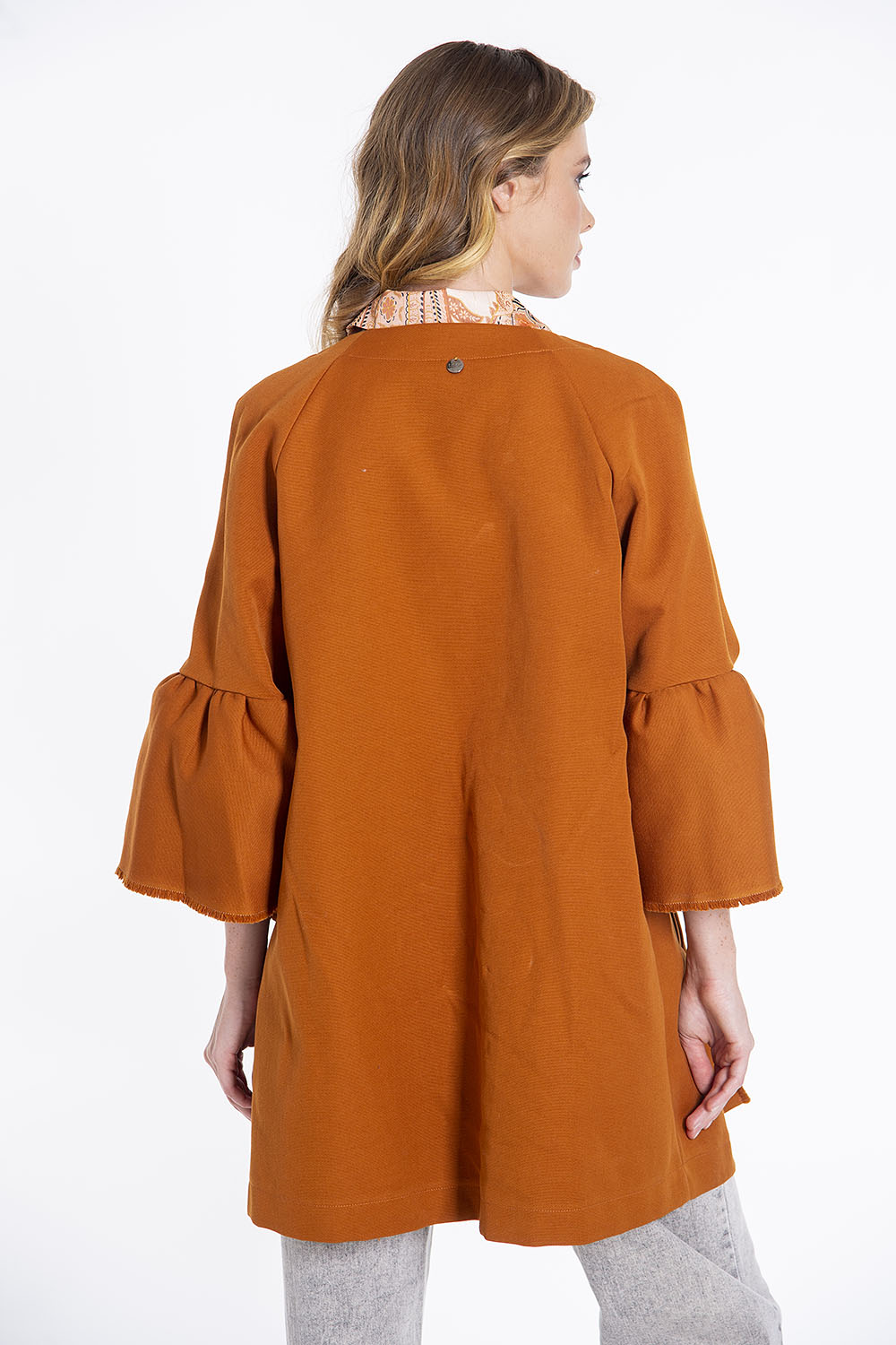 Tensione in duster coat with bell sleeves
