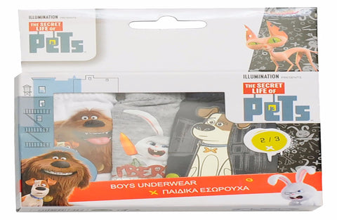 The Secret Life of Pets pack of 3 boys slips