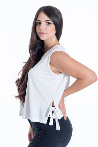 H2O sleeveless top with side ties