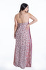 Le Vertige halterneck maxi dress with details and open back
