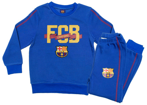 FC Barcelona logo joggers with horizontal logo