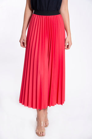 Studio Parisien midi pink pleated skirt