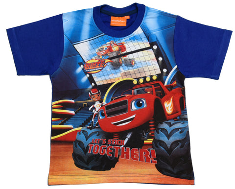 Blaze and the master machines blue t-shirt