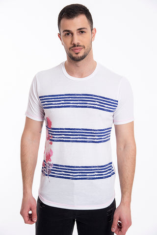 David top with stripes and floral design