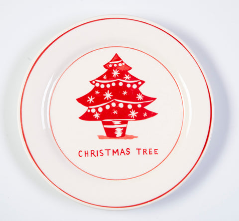 Molly Hatch festive christmas tree design small plates