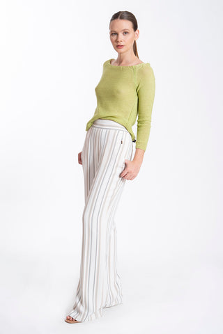 JoshV stripes wide leg trousers