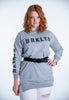 Jersey jumper with BRKLYN text