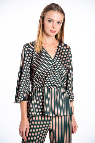 Akè crop co-ord top in stripes