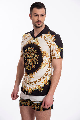 Good For Nothing baroque black and gold shirt