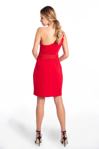 Bodycon dress with one shoulder