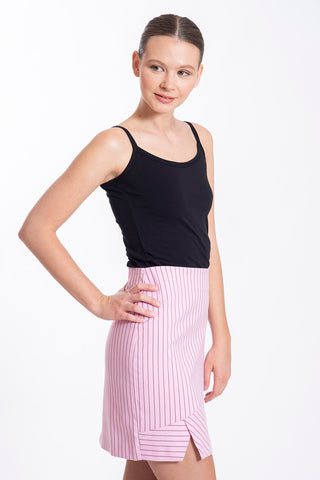 JoshV mini suited pink skirt with stripes