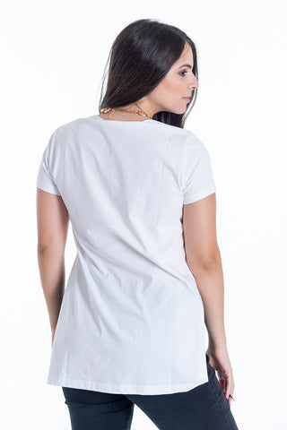 Disu long basic top with side splits