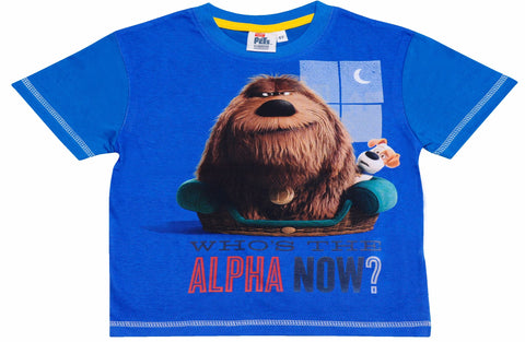 The Secret Life of Pets  Who's the alpha now text t-shirt