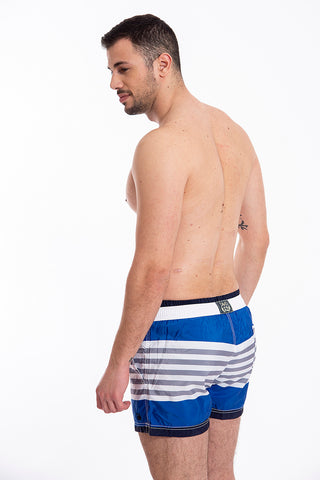 David grey stripes swim shorts