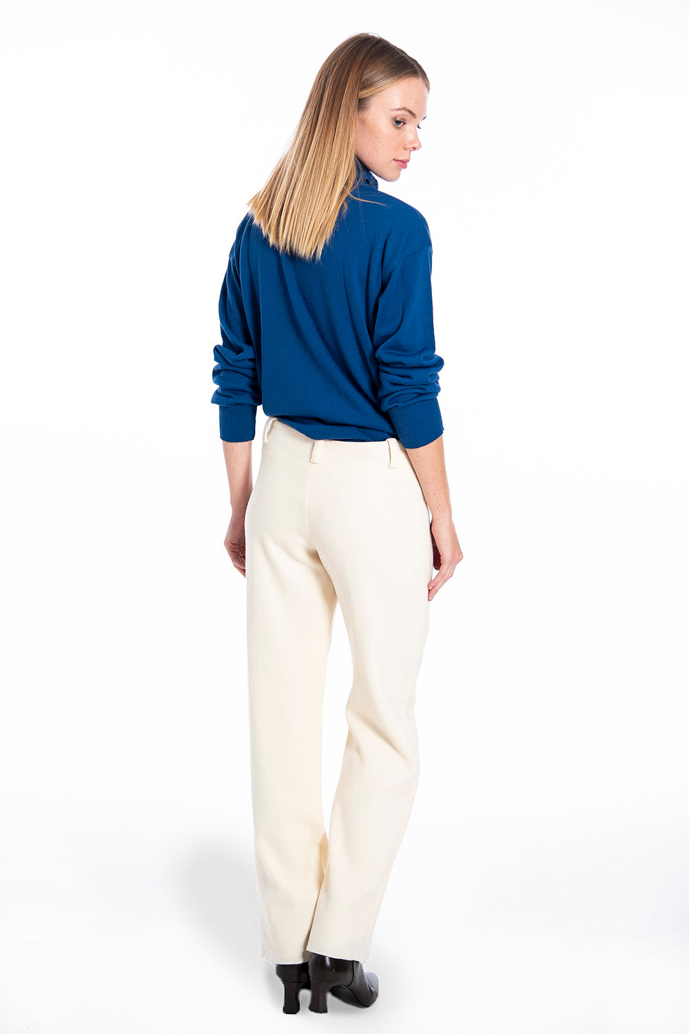 Woolish crop flare trousers