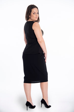 Lost Ink waistband pencil skirt