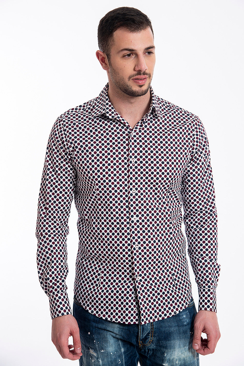 Identikit big coloured polka shirt