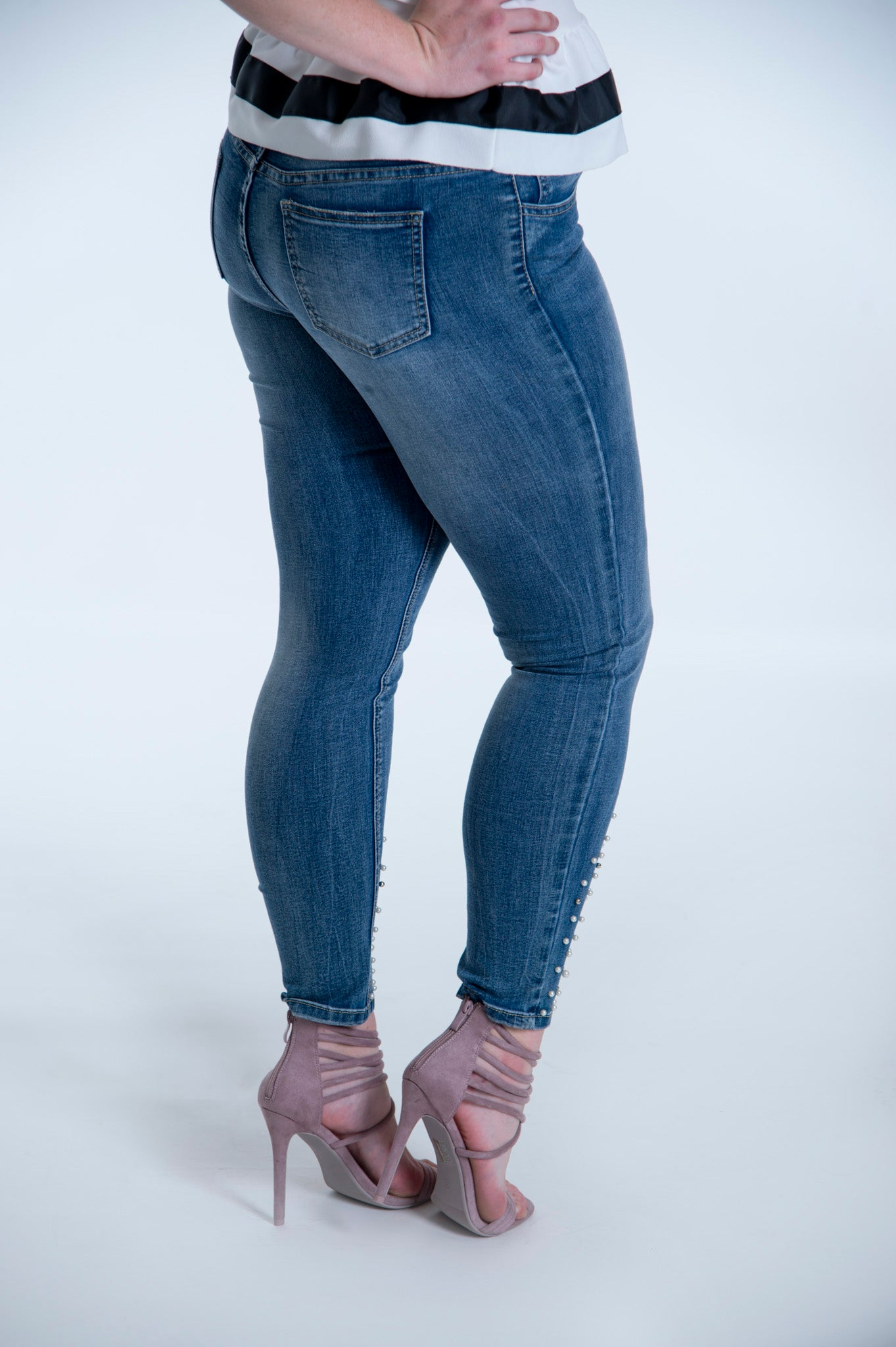 Zac & Zoe Jeans with pearl embellishment
