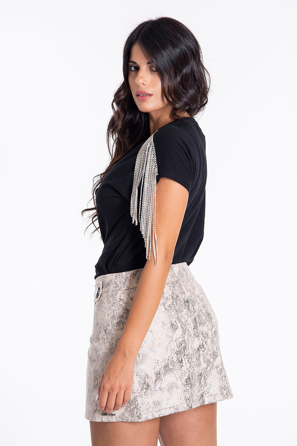 Hellen Batterr animal print mini skirt in wrap