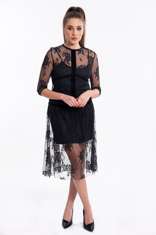 Imperial lace dress with inner lining