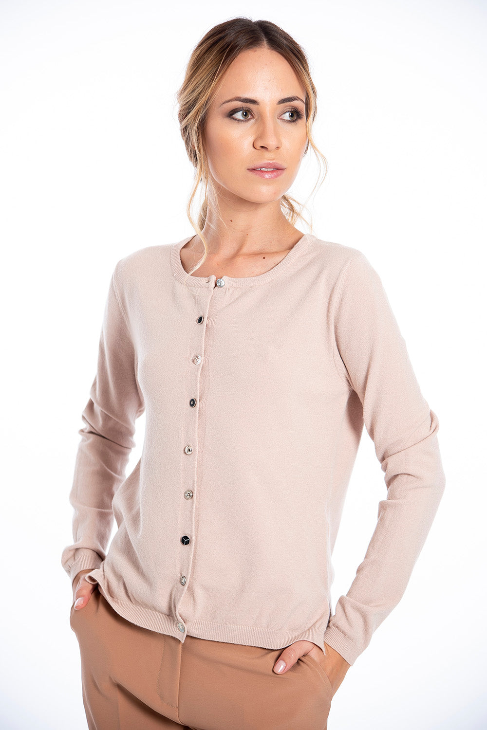 Patrizia Segreti cardigan with differerent buttons