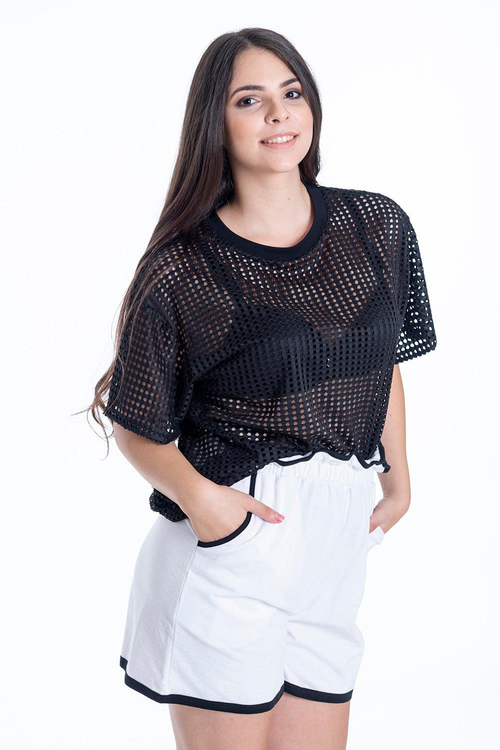 Disu loose perforated t-shirt
