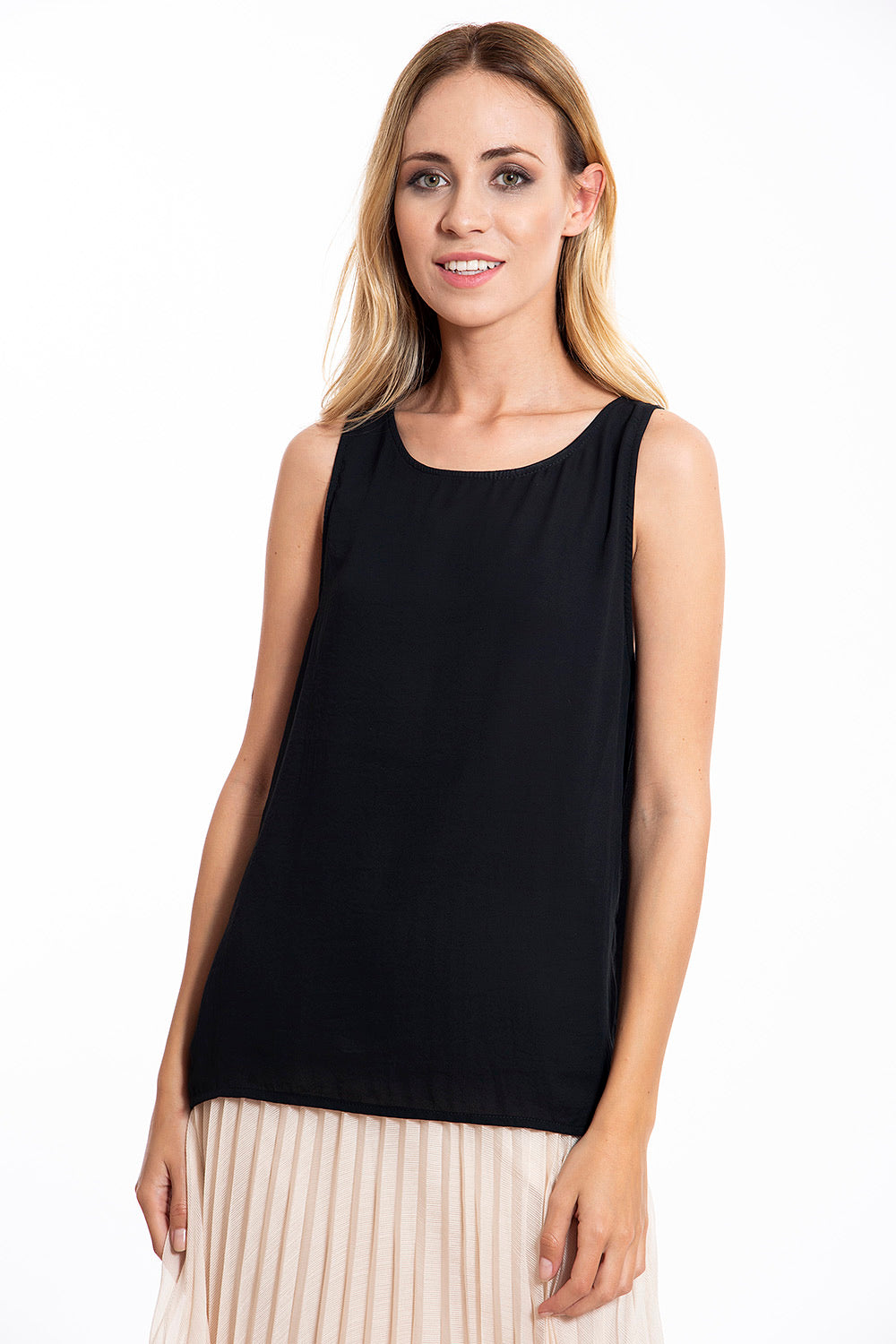 Black chiffon top from Prive