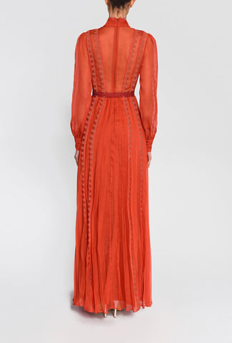 True Decadence maxi lace and pleated dress