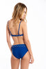 Blue star pattern push up bikini set
