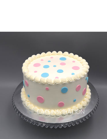 Children Mum to Be  custom cake series - topper collection - design 12 pink blue - gender reveal cake design A