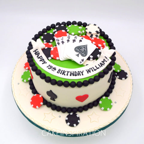 topper collection -Casino Poker Design 7 wealth and rich theme cake Singapore