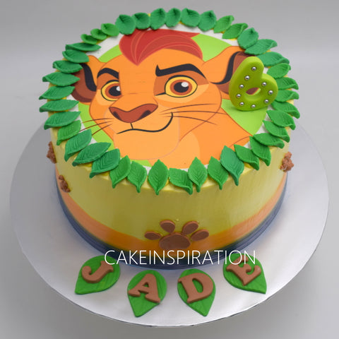 Surface 2D Art Photocake  Cake Collection .Design 3. edible design print cake Singapore .lion design cake