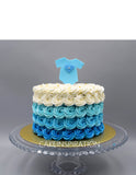 "Children custom cake series - topper collection - design 7- Ombre ""it's boy - Blue "" or ""it's a girl- Pink Cake"