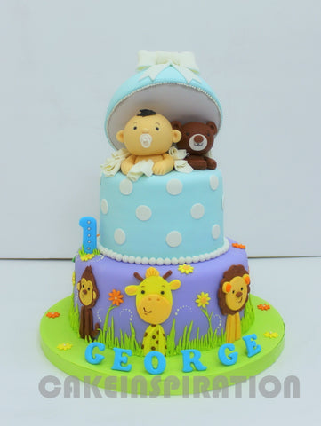 CHILDREN  COLLECTION / 1st Year Customized Cake Hand-Crafted Baby Figurine.