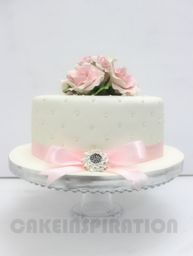 white wedding cake one tier customized wedding collection 1 tier white 27357