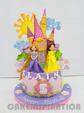 CUSTOMIZED CHILDREN  COLLECTION / Princess THEME CASTLE THEME CAKE