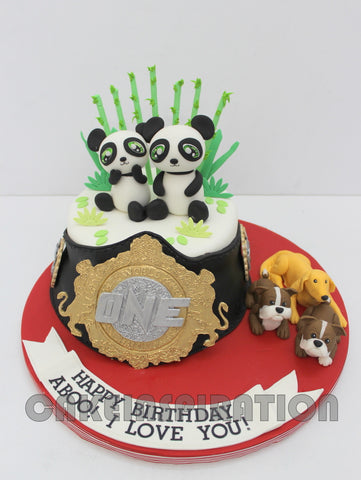 CORPORATE COLLECTION / Full Hand-Crafted Cake For No#1Championship Belt. BOXING THEME