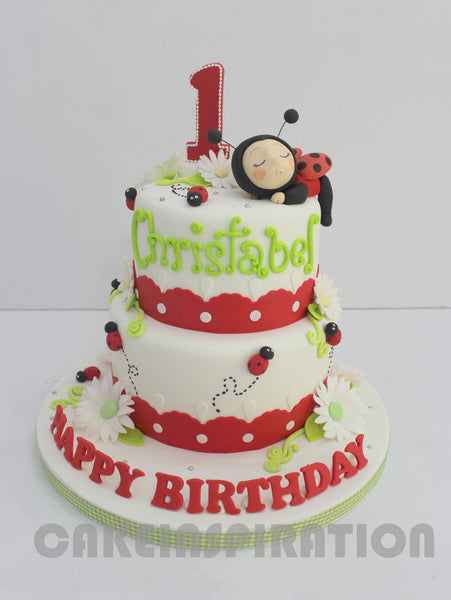 CUSTOMIZED CHILDREN COLLECTION / teen / 2 tier Bee's theme cake singapore / lady bug
