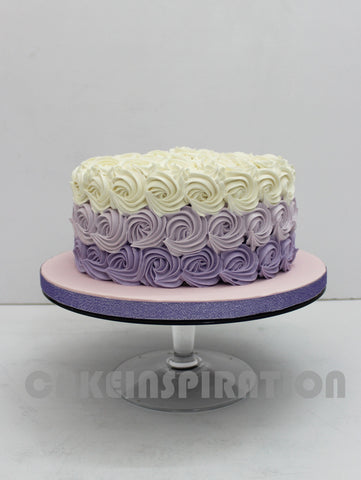 OMBRE PURPLE ROSETTE SWIRLS WEDDING CAKE / CUPCAKES OVER 3 TIER CUPCAKES STAND wedding COLLECTION
