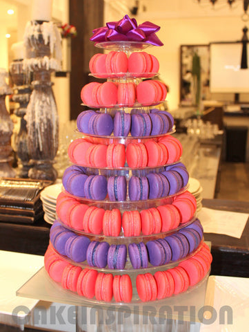 CUSTOMIZED DESSERT COLLECTION / MACARON TOWER 10 TIERS ASSORTED COLORS / MACARON TIER STAND RENTAL