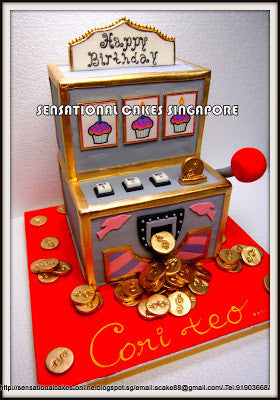 CUSTOMIZED 3d cake COLLECTION / corporate /slot machine jackpot theme 3d cake for MBS