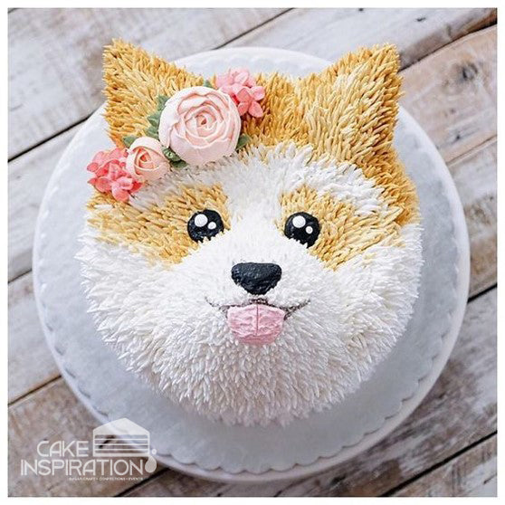 ANIMALS CREAM SERIES - CREAM ART CAKE - Puppy design 10