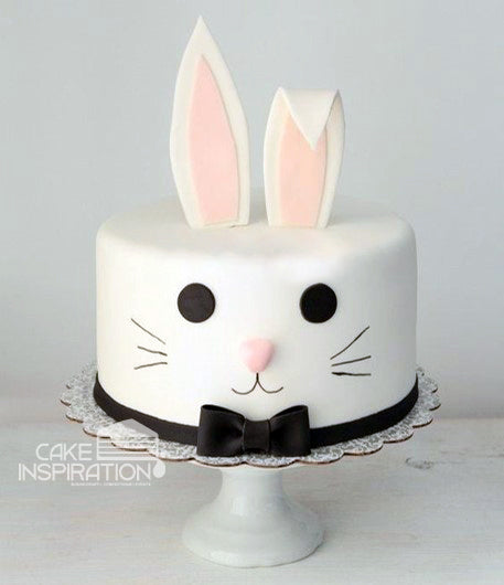 ANIMALS CREAM SERIES - CREAM ART CAKE - Bunny design 17 ( Fondant )