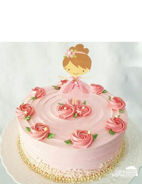 Children custom cake series - topper collection - design 17 Princess Rosetta Range Design A- Ballerina Theme Cake Singapore