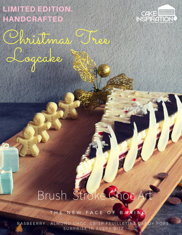 Premium Xmas Tree Raspberry Jelly Log Cake