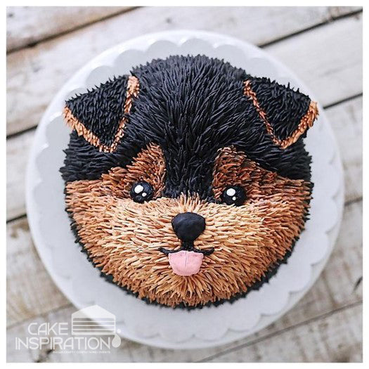 ANIMALS CREAM SERIES - CREAM ART CAKE - Puppy design 02