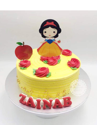 Children custom cake series - topper collection - design 18 Princess Rosetta Range Design A- Snow White and Apple theme Cake Singapore