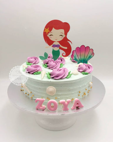 Children custom cake series - topper collection - design 19 Princess Rosetta Range Design C- Arie Mermaid underwater theme Cake Singapore