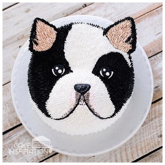 ANIMALS CREAM SERIES - CREAM ART CAKE - Puppy design 04
